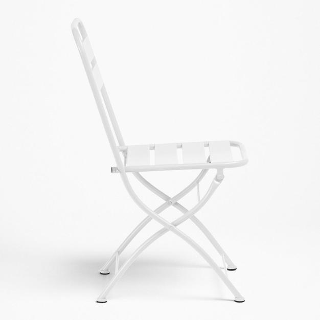 chaise blanche pliable