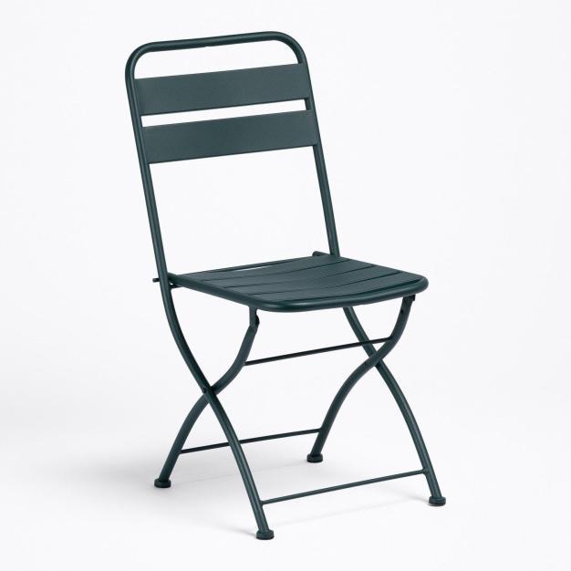chaise noir pliant