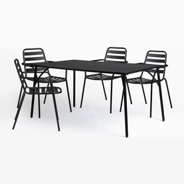 ensemble chaise noire