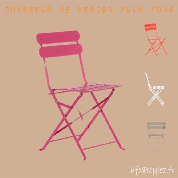 chaise pliante exterieure