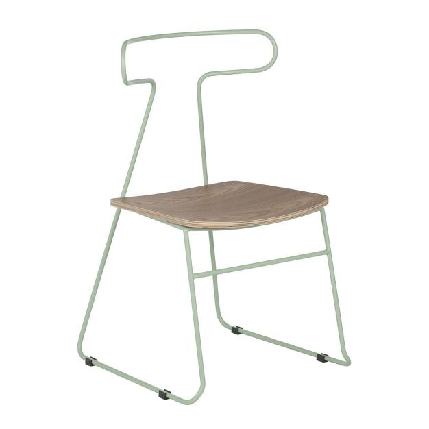 chaise bois gris