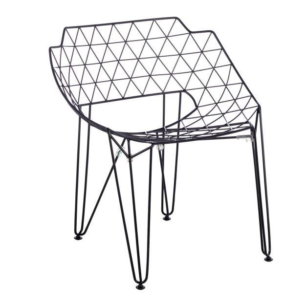 fauteuil grid noir