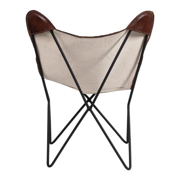 dos fauteuil papillon