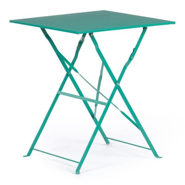 table extérieure bleu