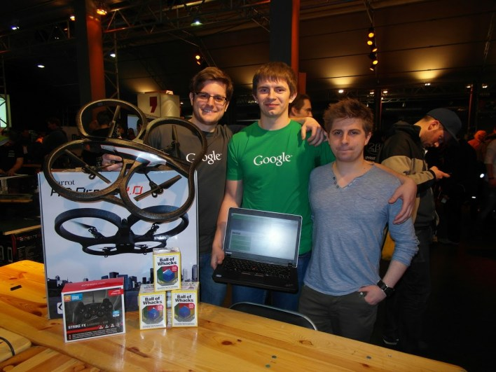 STYLIGHT @ ChromeDrone Hackathon: Dimi, Sergii and Dom