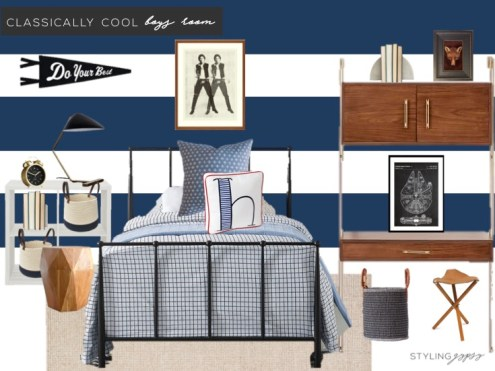 classically cool boys room blog px