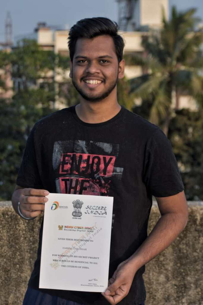 Harshal Chaudhari Indian young cyber crime investigator