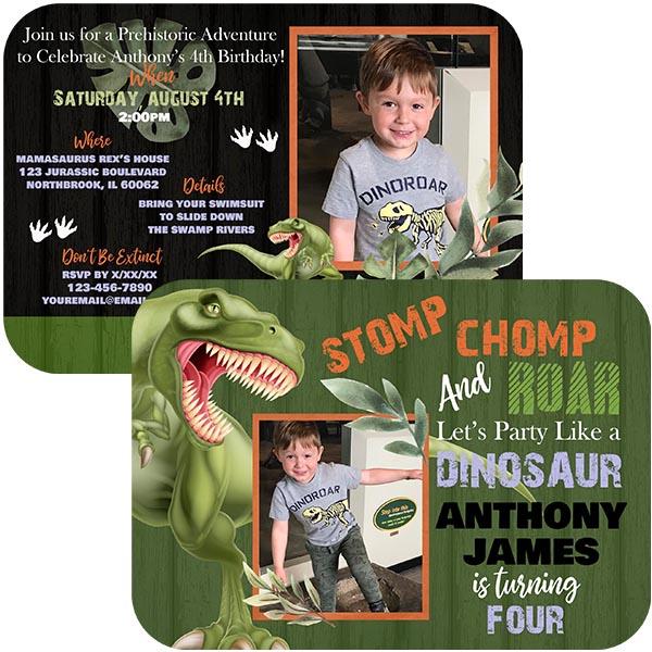 Jurassic Dinosaur Invitations