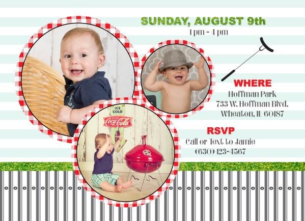 barbecue birthday invitation