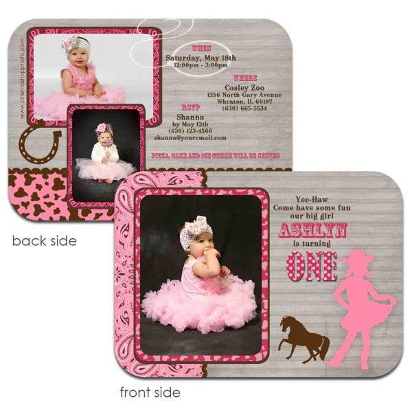pink cowgirl western 1st birthday