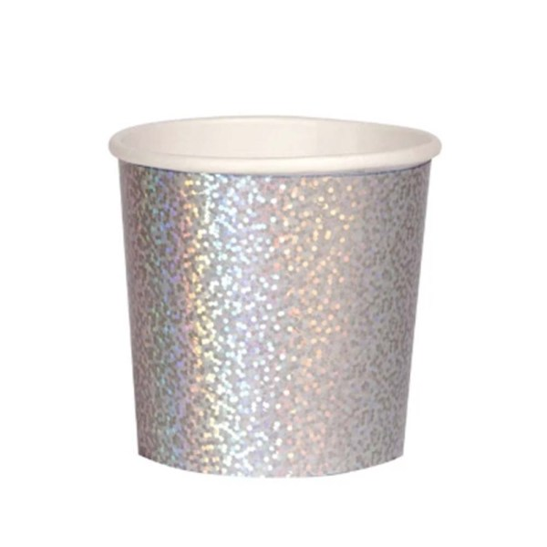 silver sparkle party cup