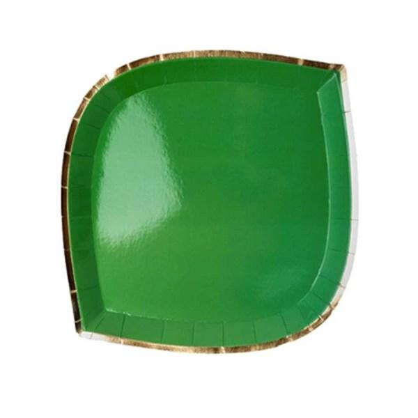 green die cut paper plate