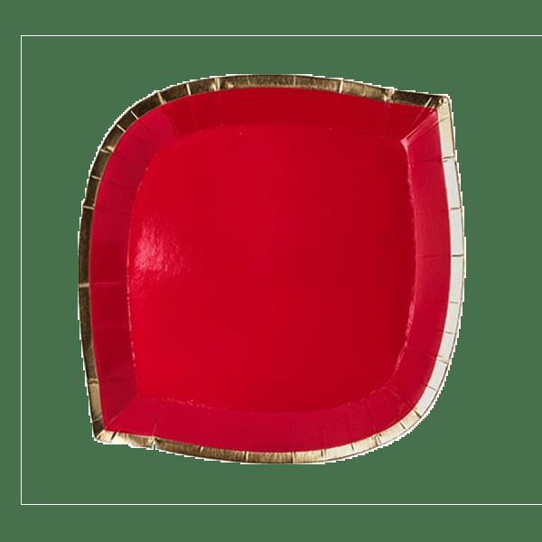 posh ruby kiss red die cut plate