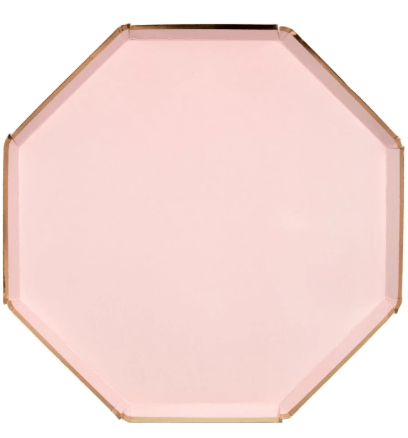 dusty pink plate