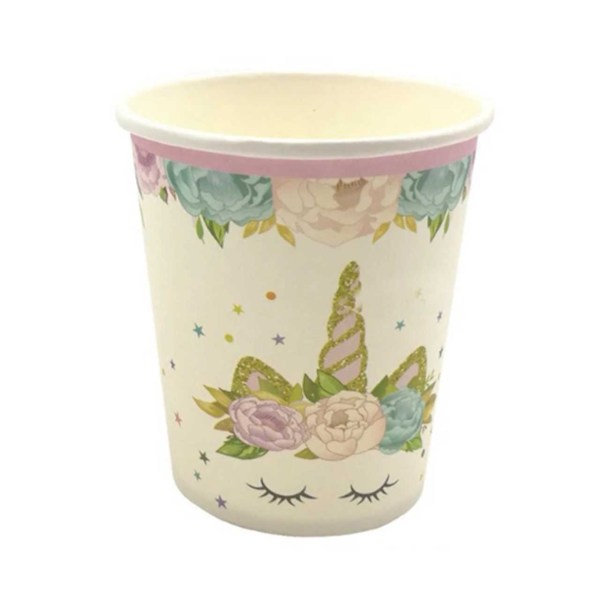 unicorn floral crown cup