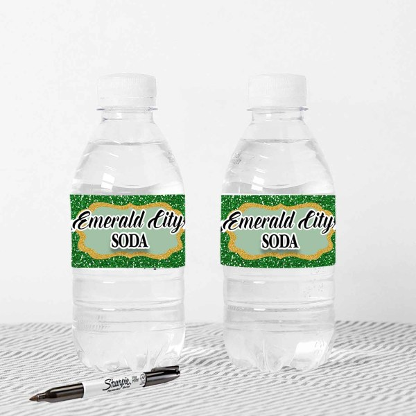 emerald city water bottle labels