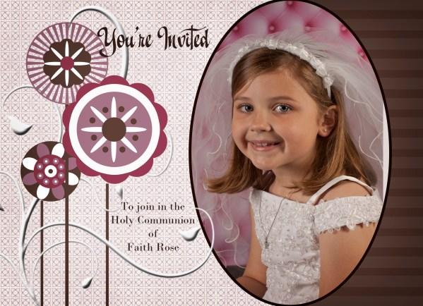 communion photo invitation