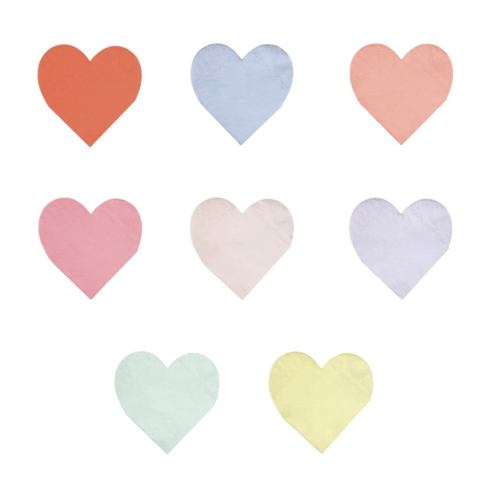heart napkins meri meri