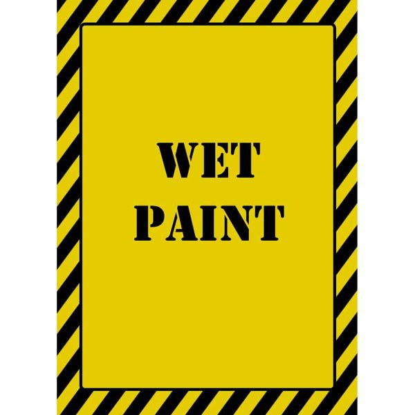 printable 5x7 wet paint sign