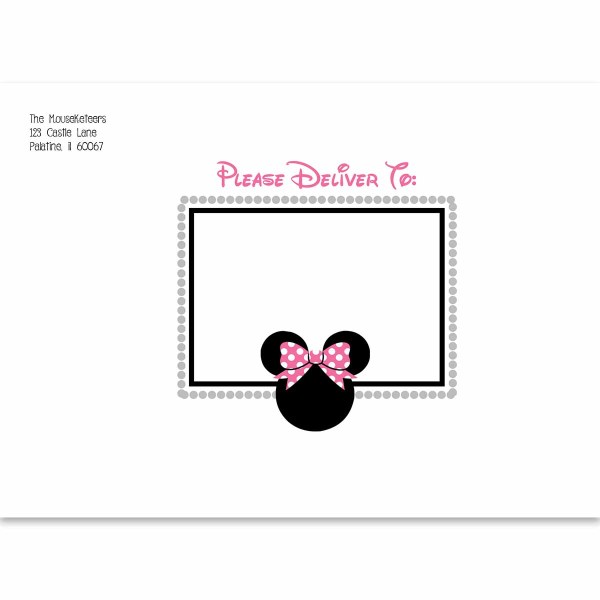 minnie mouse printed envelope