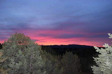 Sunset over the Sandias