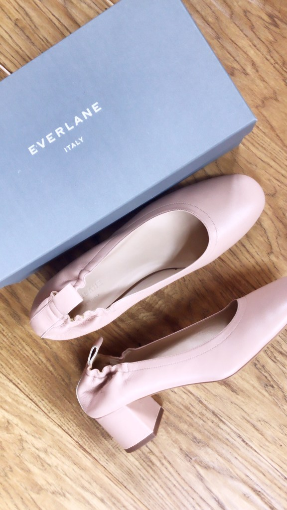 Everlane Day Heels in Pale Rose