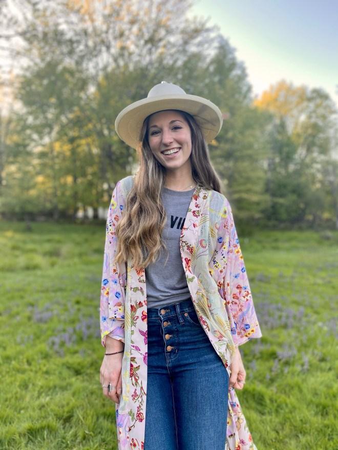 Kimono with Jeans & Tee