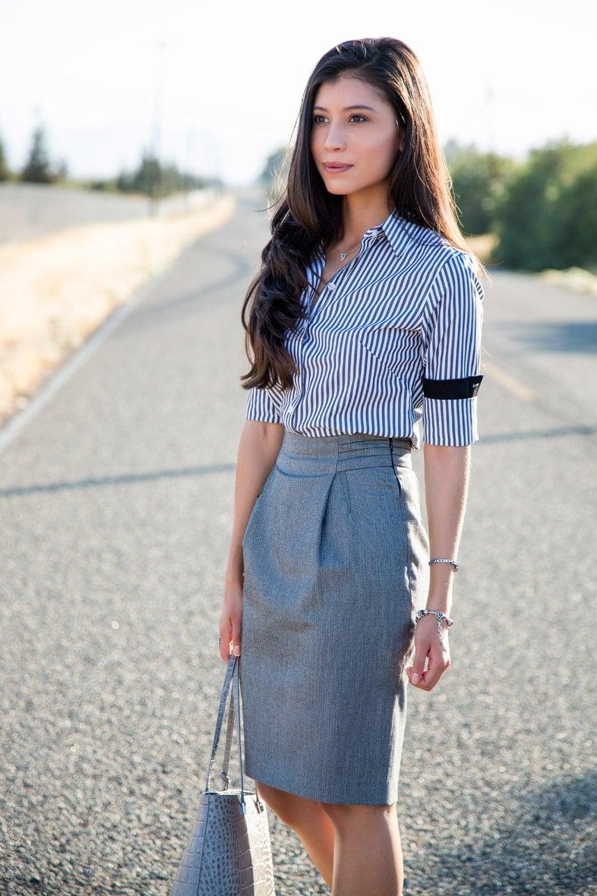 Pencil Skirt White Jean