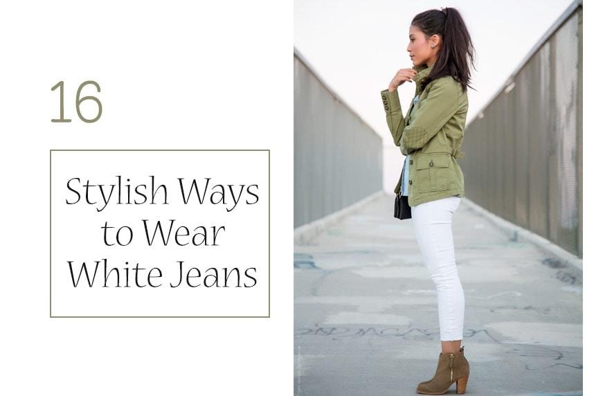 Stylish Ways to Wear White Jeans on stylishlyme.com