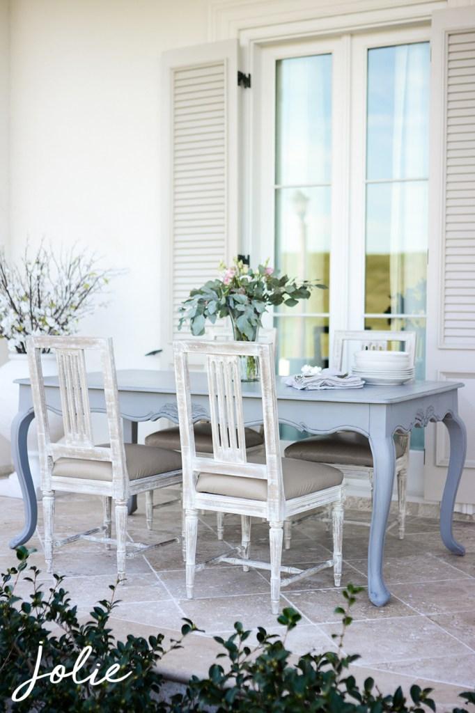 kitchen table redo french grey