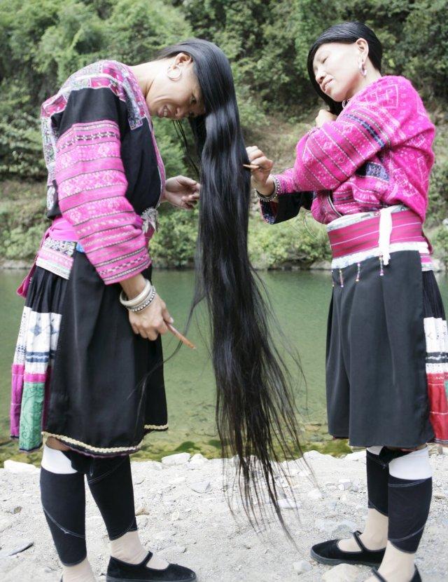long hair yao women china