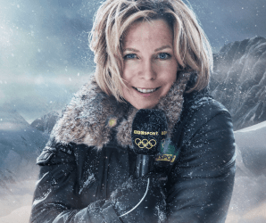 Styling for Sochi 2014 Winter Olympic Games - Coverage on BBC 2 / February 2014 (Hazel Irvine)
