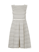 Jaeger Broderie Stripe Jersey Dress Was £80 Now £40