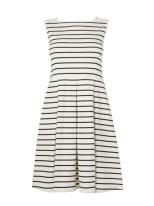Jaeger Broderie Stripe Jersey Dress Was £80 Now £40