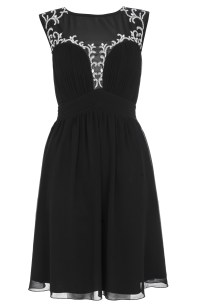 Quiz Sheer Panel Front embellished Dress £54.99