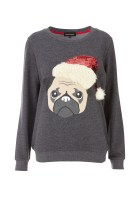 Internacionale Christmas Charcoal Pug Sweat