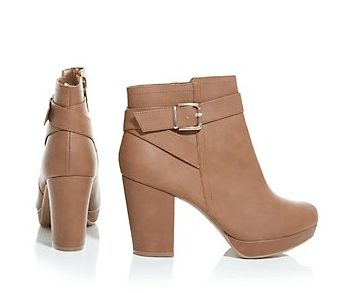 New Look Tan Cross Strap Buckle Ankle Boots