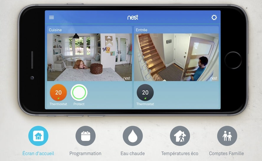 Test du thermostat Connecté Nest application