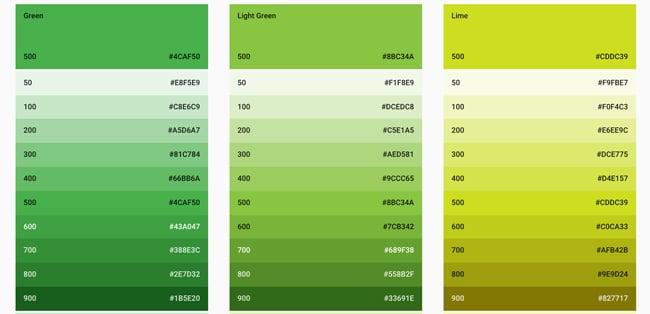 web-design-ux-design-couleur-2017 vert