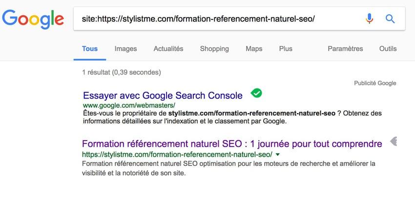 Position 0 Google extrait optimisé indexation réussie
