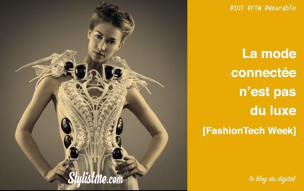 FashionTech week : les vêtements connectés ne sont pas un luxe