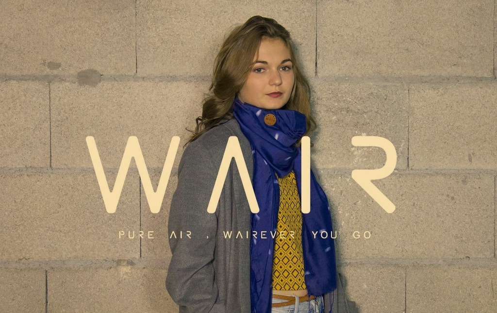 Wair foulard connecté anti-pollution tour du cou