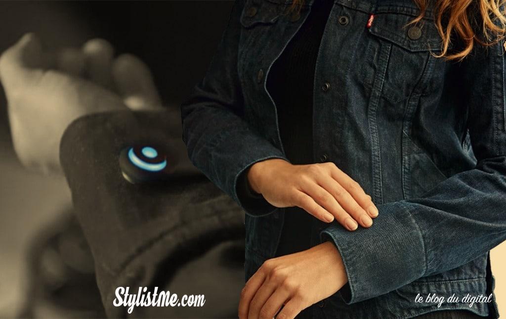 vêtement connecté veste jacquard by google Levi's