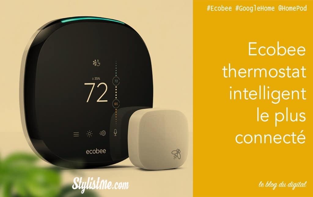 ECOBEE thermostat connecté compatible Google Home