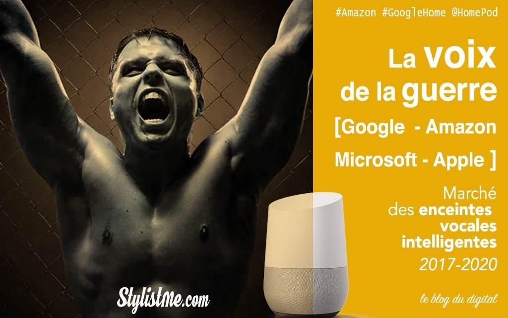 Marché des enceintes intelligentes vocales 2017-2020 : Google Home HomePod Écho