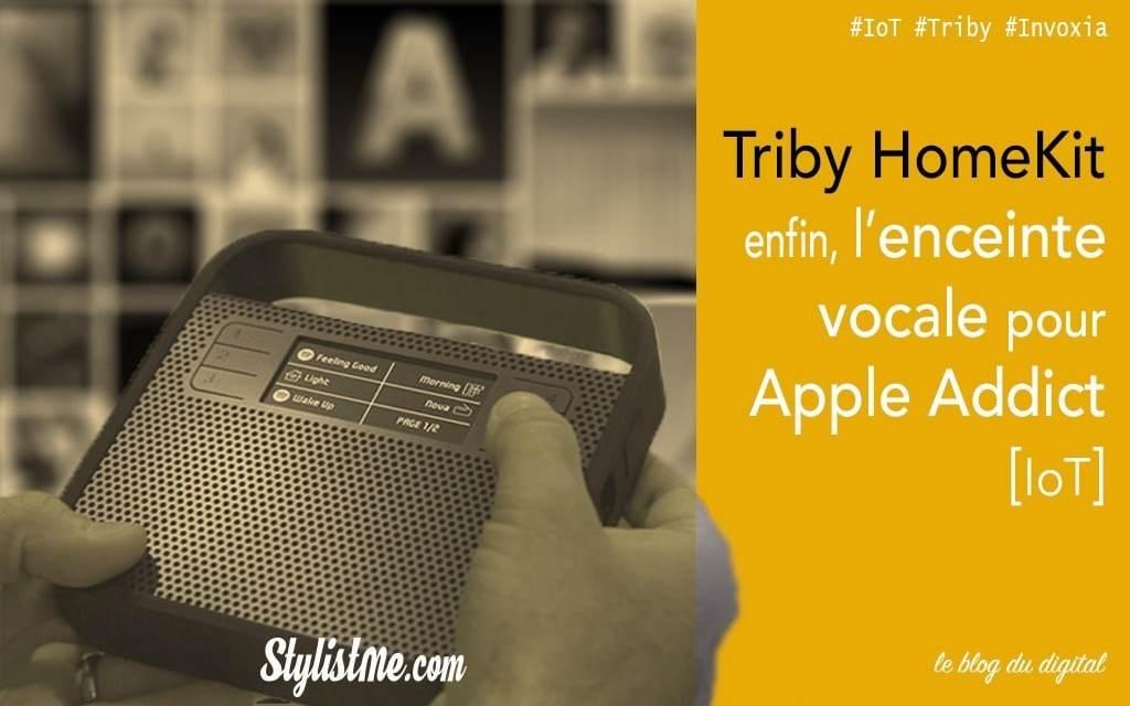 Test avis Triby HomeKit enceinte vocale connectée