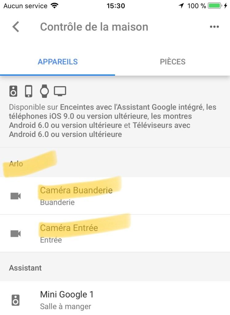 arlo pro 2 google home compatible caméra surveillance