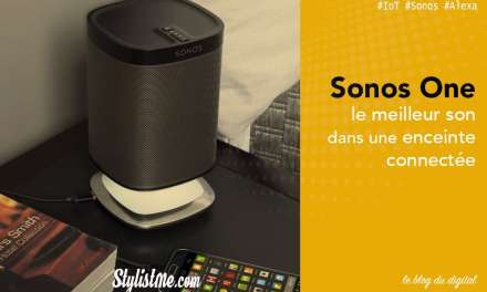 Sonos One avis test de l'enceinte Alexa Amazon et Google Assistant
