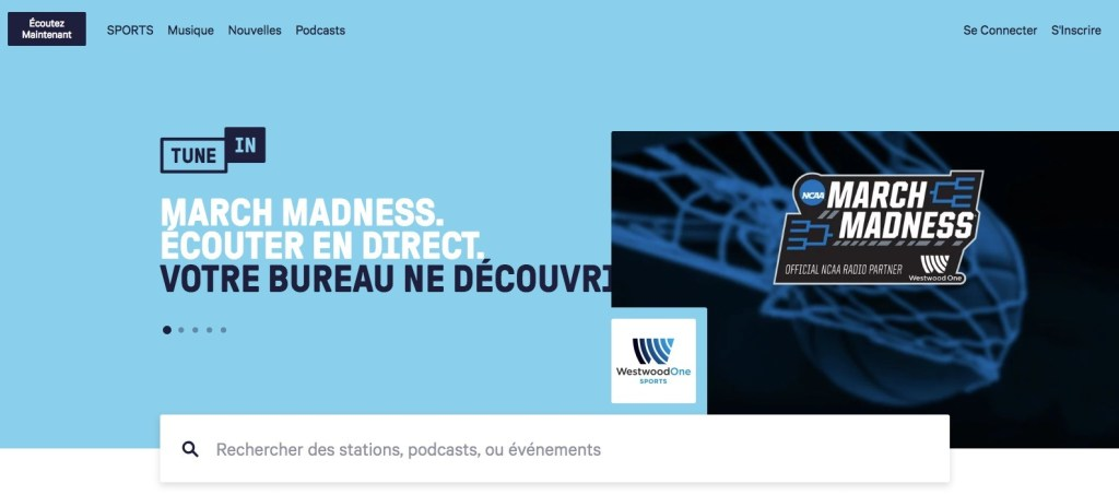 TuneIn Live l'application radio