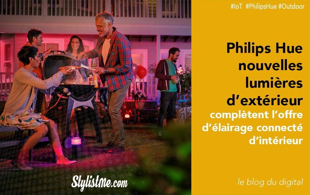 Philips hue éclairage extérieur maintenant connecté lucca tuar lily